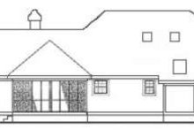 Southern Exterior - Rear Elevation Plan #406-166