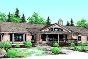 Ranch Style House Plan - 3 Beds 2 Baths 2564 Sq/Ft Plan #60-196 Exterior - Front Elevation