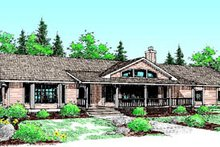 Dream House Plan - Ranch Exterior - Front Elevation Plan #60-196
