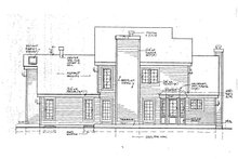 Country Exterior - Rear Elevation Plan #3-235