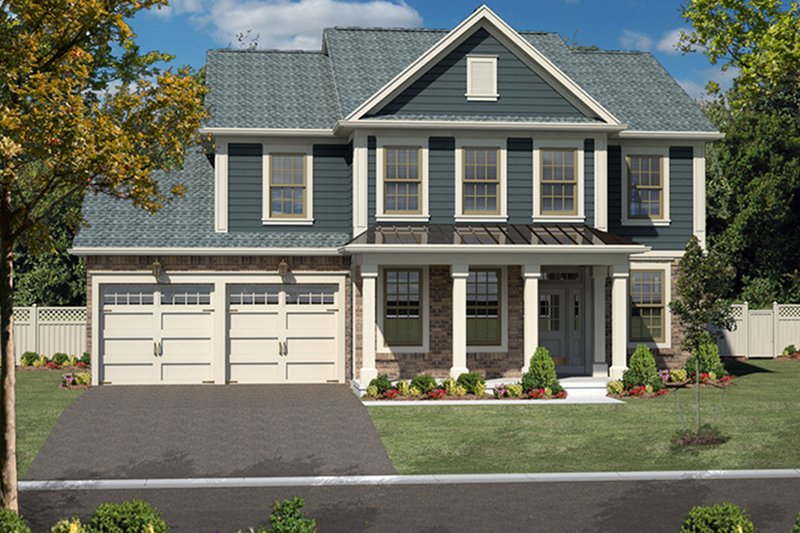 Architectural House Design - Colonial Exterior - Front Elevation Plan #316-278