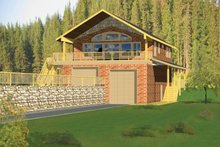 House Plan Design - Contemporary Exterior - Front Elevation Plan #117-839