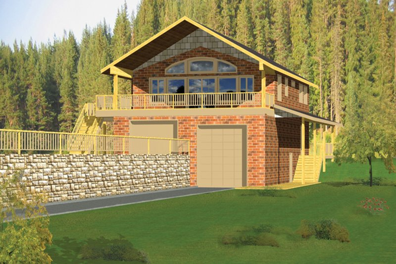 Home Plan - Contemporary Exterior - Front Elevation Plan #117-839