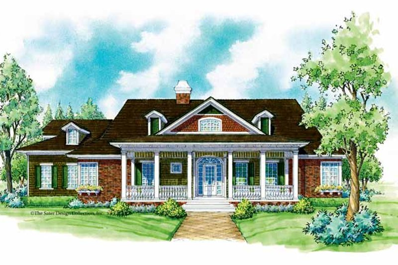 Ranch Exterior - Front Elevation Plan #930-227
