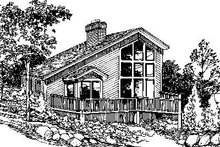 House Design - Contemporary Exterior - Rear Elevation Plan #57-150
