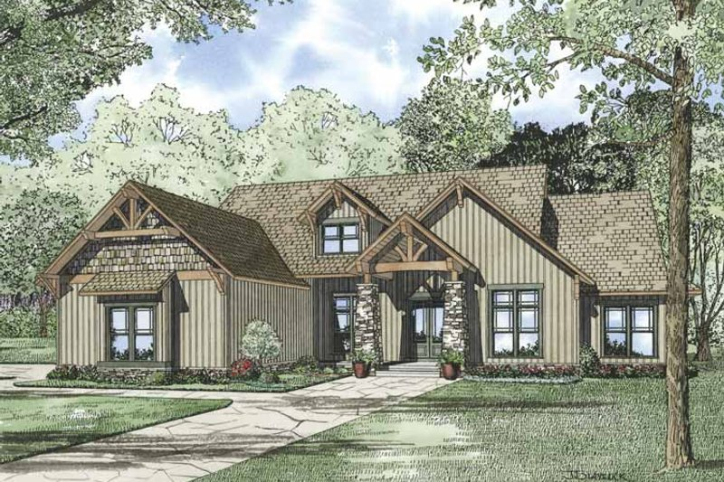 Country Exterior - Front Elevation Plan #17-3315
