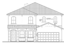 Architectural House Design - Mediterranean Exterior - Front Elevation Plan #1058-66