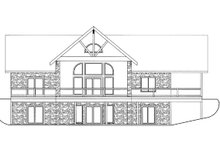 Architectural House Design - Ranch Exterior - Rear Elevation Plan #117-856