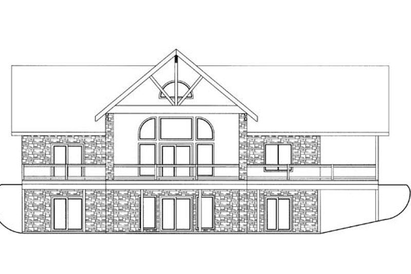 Ranch Exterior - Rear Elevation Plan #117-856 - Houseplans.com