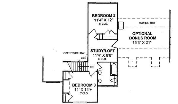 Country Floor Plan - Upper Floor Plan Plan #20-367