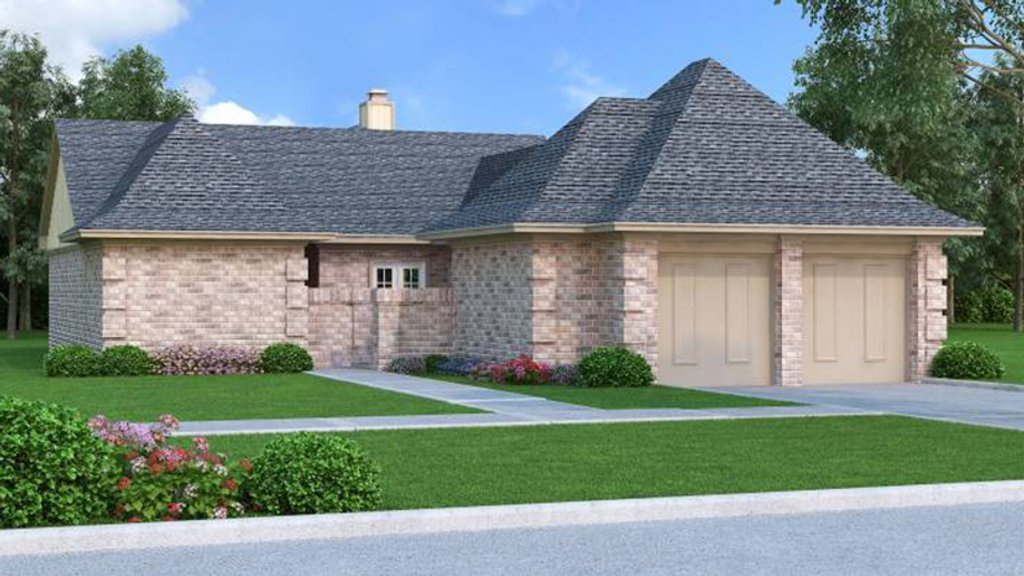 European style house plan 3 beds 2 baths 1584 sq ft plan for Weinmaster house plans