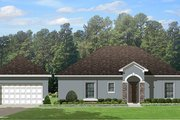 Mediterranean Style House Plan - 2 Beds 2 Baths 1195 Sq/Ft Plan #1058-115 Exterior - Other Elevation
