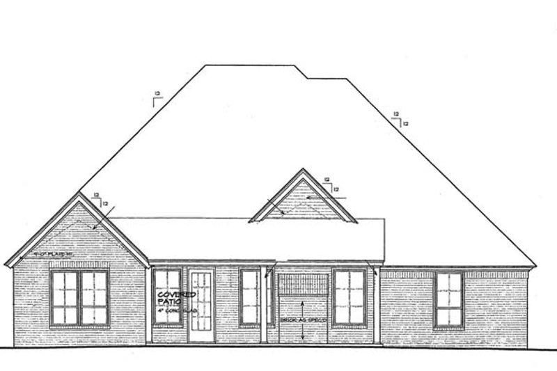 European Exterior - Rear Elevation Plan #310-1275 - Houseplans.com