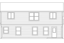 Architectural House Design - European Exterior - Rear Elevation Plan #472-405