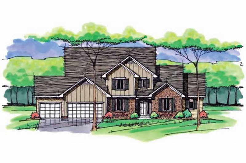 Colonial Exterior - Front Elevation Plan #51-1041