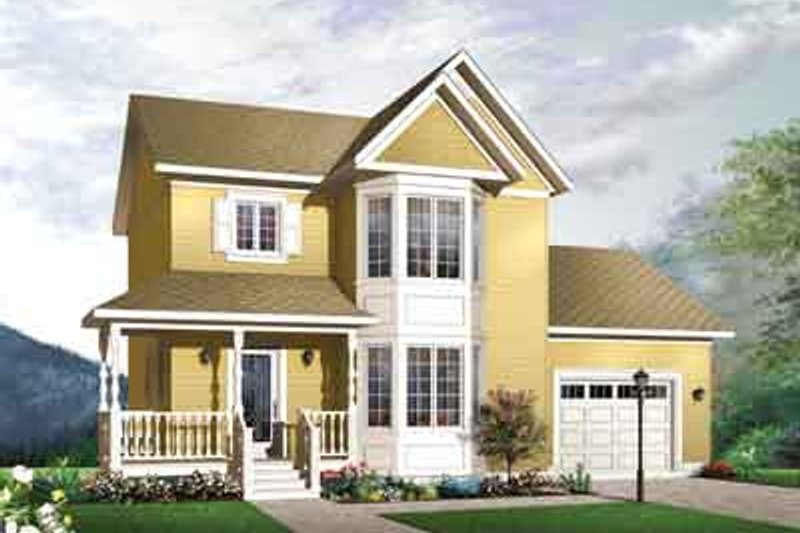 Dream House Plan - Traditional Exterior - Front Elevation Plan #23-672