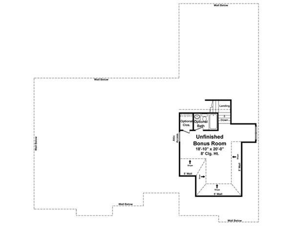 European Floor Plan - Upper Floor Plan Plan #21-336