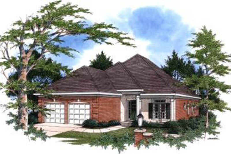 Traditional Exterior - Front Elevation Plan #37-201 - Houseplans.com