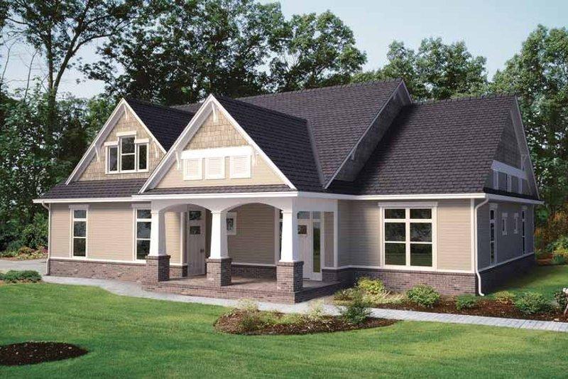 Contemporary Exterior - Front Elevation Plan #11-272 - Houseplans.com
