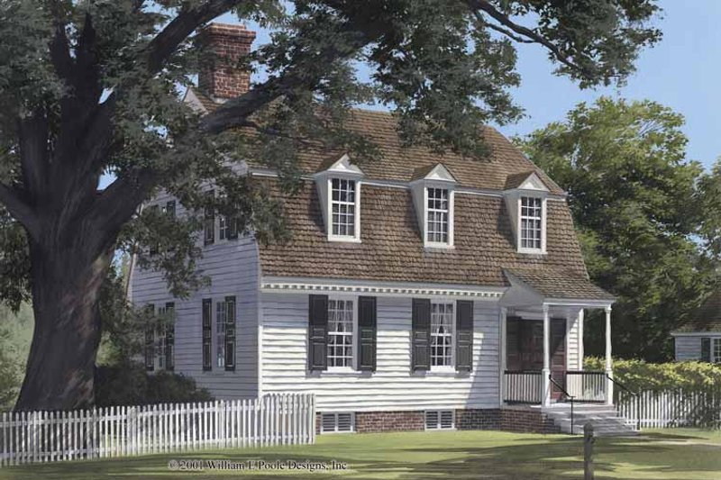 Colonial Exterior - Front Elevation Plan #137-346