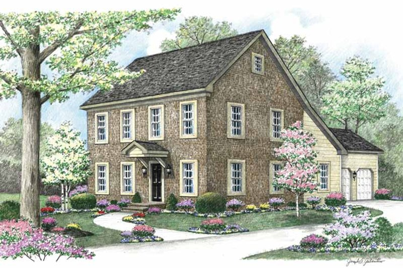 Country Exterior - Front Elevation Plan #1002-4