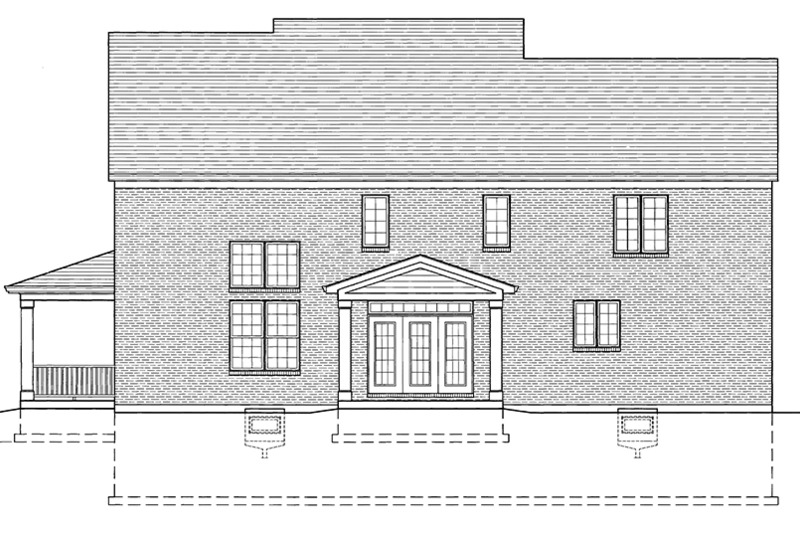 Traditional Exterior - Rear Elevation Plan #46-848 - Houseplans.com