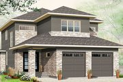 Contemporary Style House Plan - 3 Beds 2.5 Baths 2288 Sq/Ft Plan #23-2608 Exterior - Front Elevation