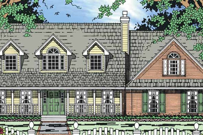 Country Exterior - Front Elevation Plan #42-691