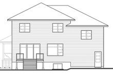 Contemporary Exterior - Rear Elevation Plan #23-2588