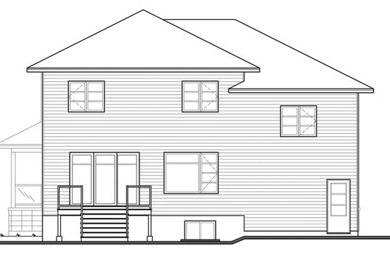 Contemporary Exterior - Rear Elevation Plan #23-2588 - Houseplans.com