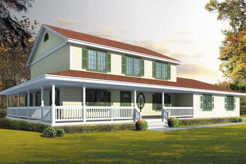 Traditional Exterior - Front Elevation Plan #1037-22 - Houseplans.com