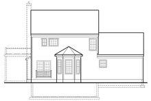 Colonial Exterior - Rear Elevation Plan #1053-74