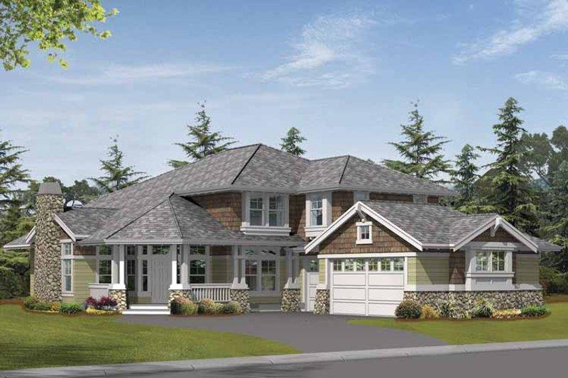 Craftsman Exterior - Front Elevation Plan #132-399 - Houseplans.com