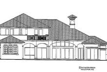 Mediterranean Exterior - Rear Elevation Plan #930-440