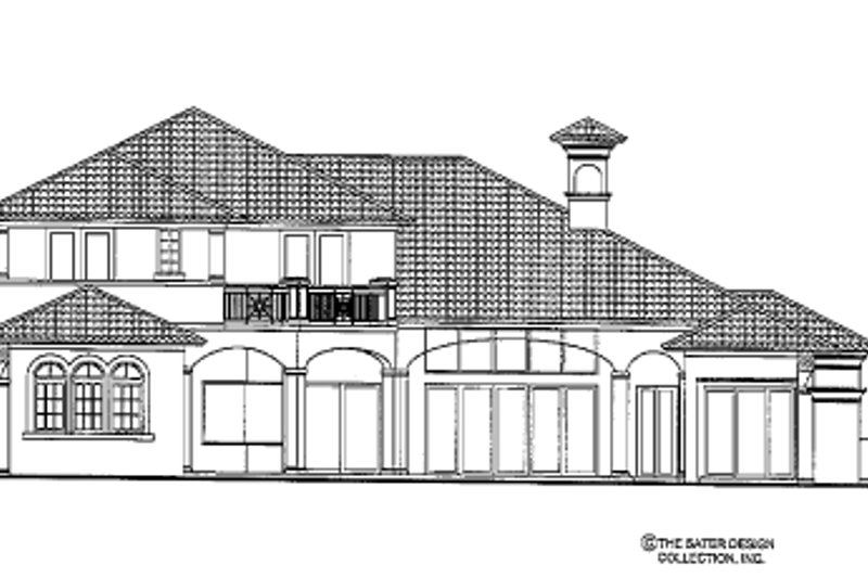 Mediterranean Exterior - Rear Elevation Plan #930-440 - Houseplans.com
