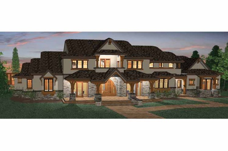 Craftsman Exterior - Front Elevation Plan #937-20
