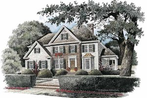 Colonial Exterior - Front Elevation Plan #429-115