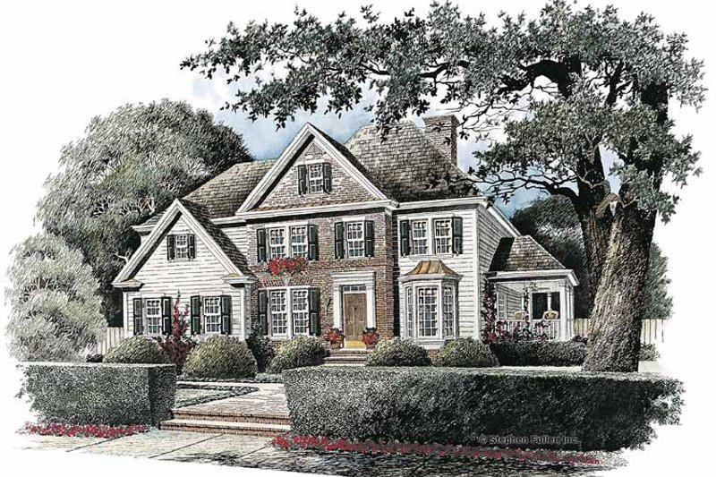 Home Plan - Colonial Exterior - Front Elevation Plan #429-115