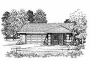 Modern Style House Plan - 1 Beds 1 Baths 321 Sq/Ft Plan #72-283