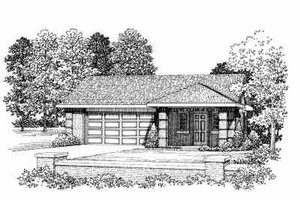 Dream House Plan - Modern Exterior - Front Elevation Plan #72-283