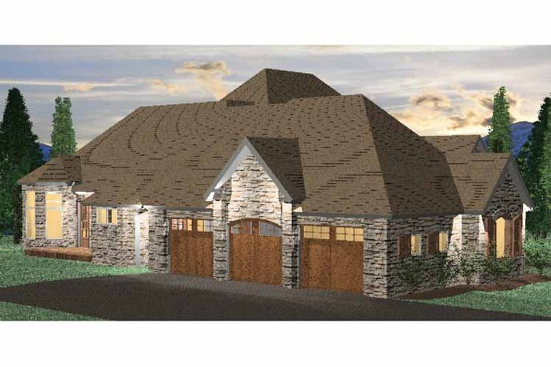 Country Exterior - Front Elevation Plan #937-7 - Houseplans.com