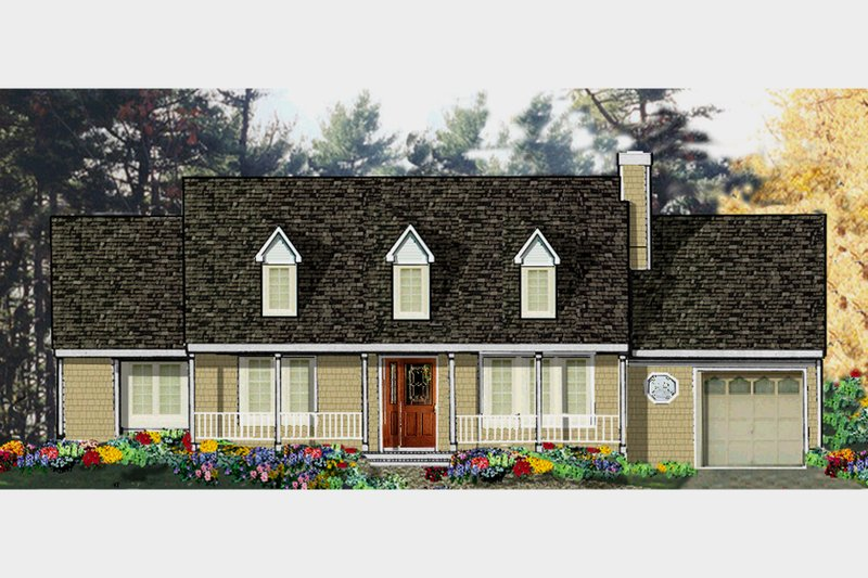 Country Exterior - Front Elevation Plan #3-318