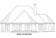 House Plan Design - European Exterior - Rear Elevation Plan #923-82