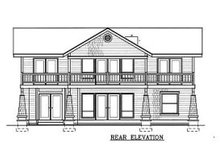 Craftsman Exterior - Rear Elevation Plan #100-203