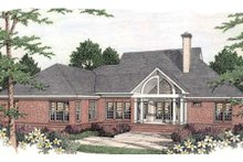 Southern Exterior - Rear Elevation Plan #406-296
