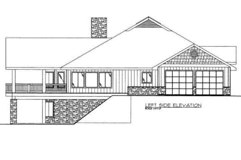 Bungalow Exterior - Other Elevation Plan #117-610 - Houseplans.com