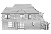 Tudor Style House Plan - 4 Beds 2.5 Baths 2494 Sq/Ft Plan #46-853 Exterior - Rear Elevation