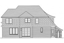 Tudor Exterior - Rear Elevation Plan #46-853