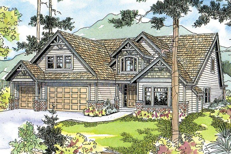 Dream House Plan - Craftsman Exterior - Front Elevation Plan #124-513