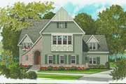 European Style House Plan - 4 Beds 3 Baths 3756 Sq/Ft Plan #413-111 Exterior - Front Elevation